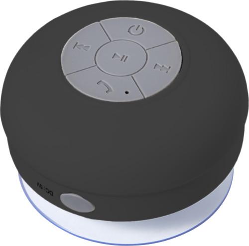 Plastic speaker, waterresistant.