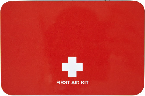 15 Piece first-aid kit in a metal tin