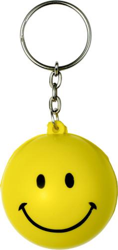 Anti stress key holder smiling face