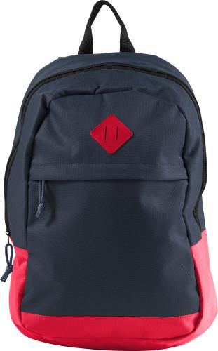 Mörkblå ryggsäck i polyester (600D)