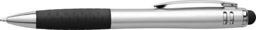 Multifunctional twist-action plastic ballpoint pen