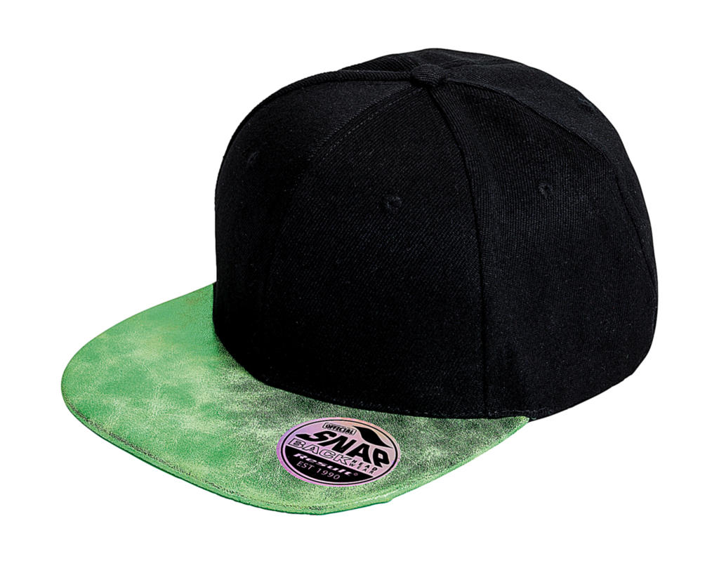 Bronx Glitter Flat Peak Snapback Cap
